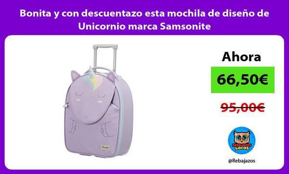 Bonita y con descuentazo esta mochila de diseño de Unicornio marca Samsonite
