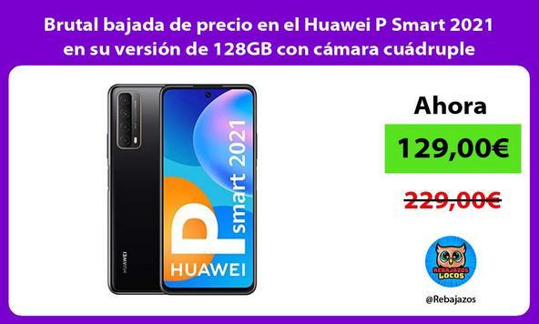 Brutal bajada de precio en el Huawei P Smart 2021 en su versión de 128GB con cámara cuádruple