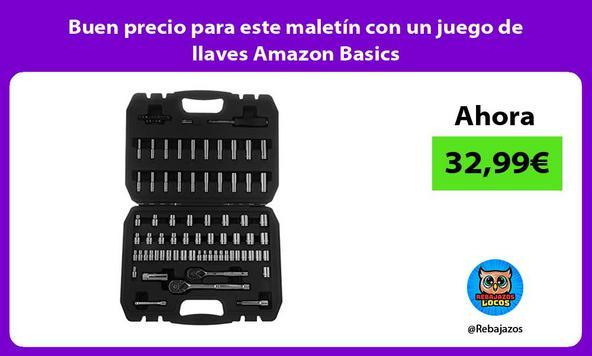 Buen precio para este maletín con un juego de llaves Amazon Basics