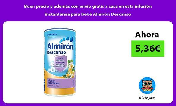 Buen precio y además con envío gratis a casa en esta infusión instantánea para bebé Almirón Descanso