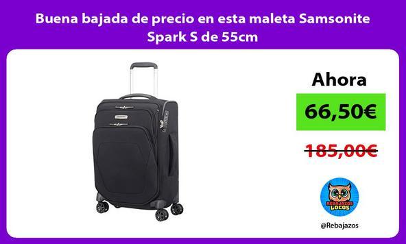 Buena bajada de precio en esta maleta Samsonite Spark S de 55cm