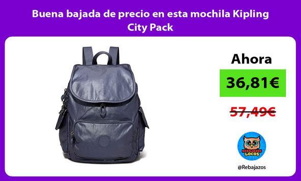 Buena bajada de precio en esta mochila Kipling City Pack