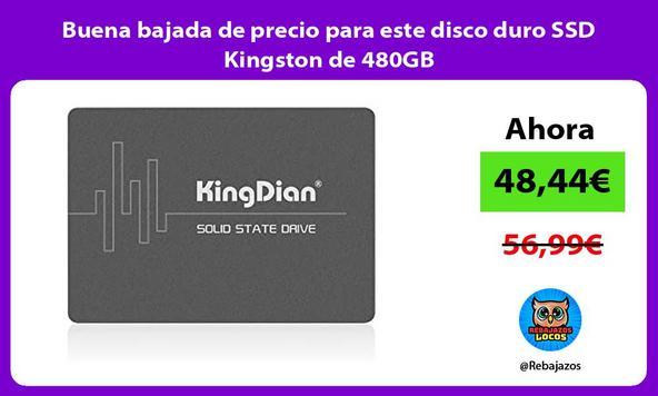 Buena bajada de precio para este disco duro SSD Kingston de 480GB