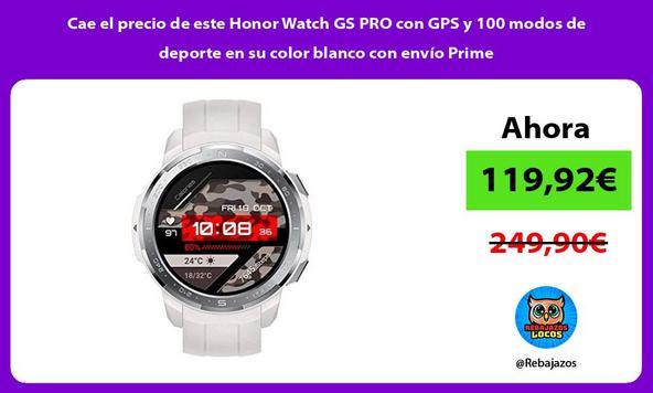 Cae el precio de este Honor Watch GS PRO con GPS y 100 modos de deporte en su color blanco con envío Prime