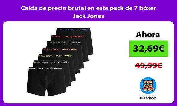 Caída de precio brutal en este pack de 7 bóxer Jack Jones
