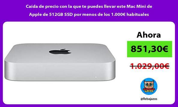 Caída de precio con la que te puedes llevar este Mac Mini de Apple de 512GB SSD por menos de los 1.000€ habituales