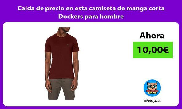Caída de precio en esta camiseta de manga corta Dockers para hombre