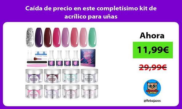 Caída de precio en este completísimo kit de acrílico para uñas