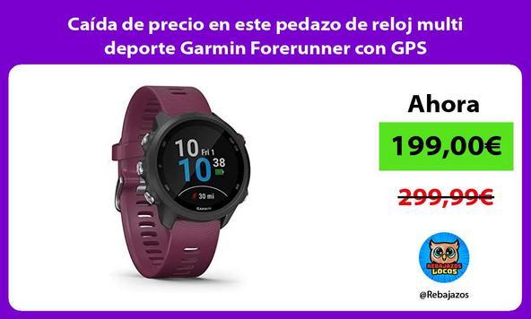 Caída de precio en este pedazo de reloj multi deporte Garmin Forerunner con GPS