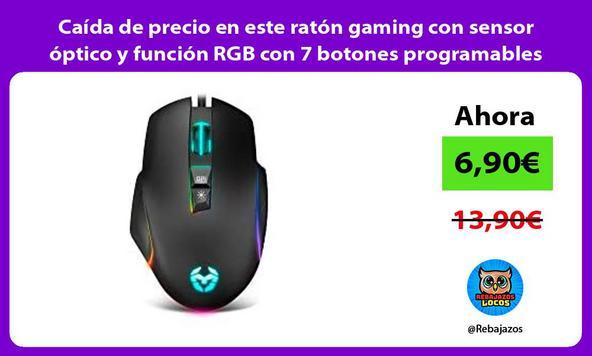 Caída de precio en este ratón gaming con sensor óptico y función RGB con 7 botones programables
