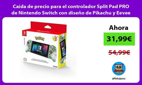 Caída de precio para el controlador Split Pad PRO de Nintendo Switch con diseño de Pikachu y Eevee