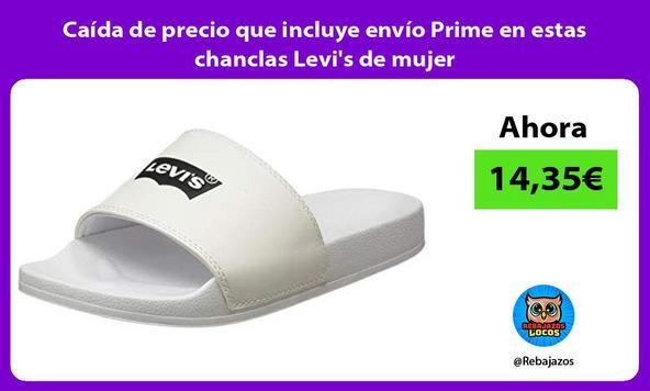 Caída de precio que incluye envío Prime en estas chanclas Levi's de mujer