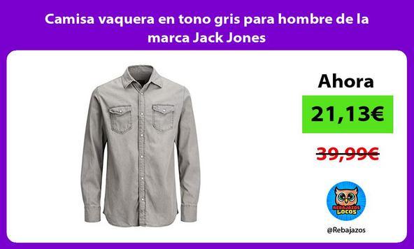 Camisa vaquera en tono gris para hombre de la marca Jack Jones