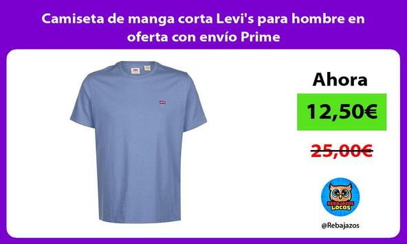 Camiseta de manga corta Levi's para hombre en oferta con envío Prime