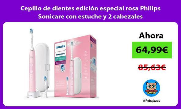 Cepillo de dientes edición especial rosa Philips Sonicare con estuche y 2 cabezales