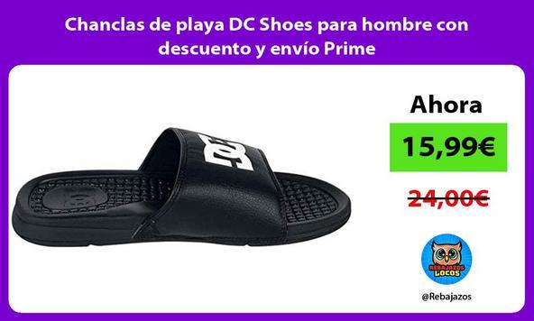 Chanclas de playa DC Shoes para hombre con descuento y envío Prime