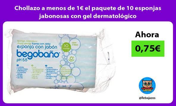 Chollazo a menos de 1€ el paquete de 10 esponjas jabonosas con gel dermatológico