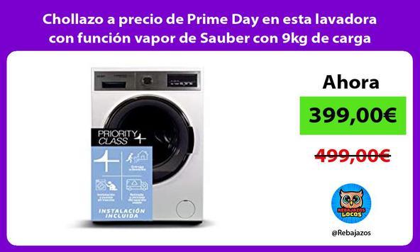 Chollazo a precio de Prime Day en esta lavadora con función vapor de Sauber con 9kg de carga