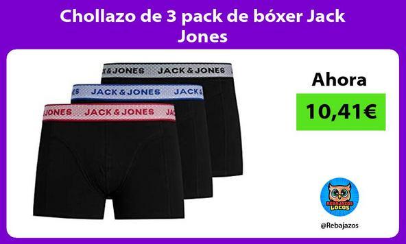 Chollazo de 3 pack de bóxer Jack Jones