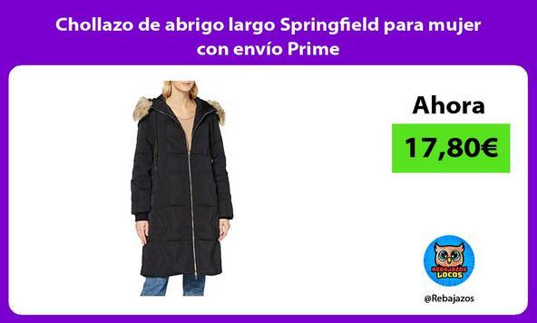 Chollazo de abrigo largo Springfield para mujer con envío Prime