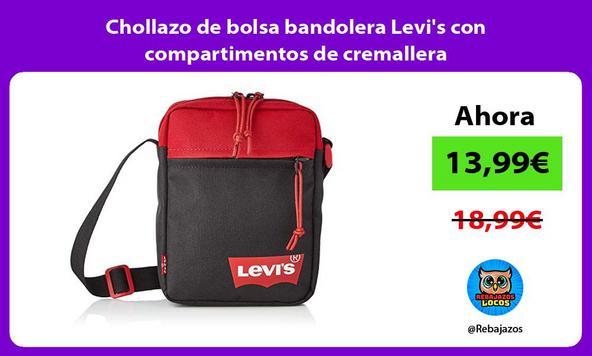 Chollazo de bolsa bandolera Levi's con compartimentos de cremallera