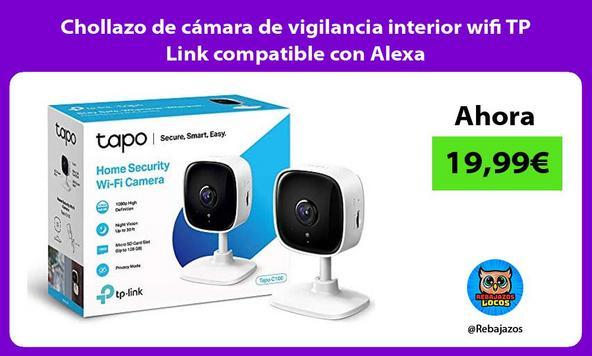 Chollazo de cámara de vigilancia interior wifi TP Link compatible con Alexa