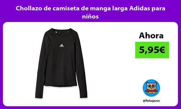 Chollazo de camiseta de manga larga Adidas para niños