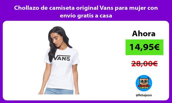 Chollazo de camiseta original Vans para mujer con envío gratis a casa