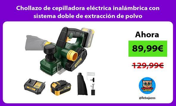 Chollazo de cepilladora eléctrica inalámbrica con sistema doble de extracción de polvo
