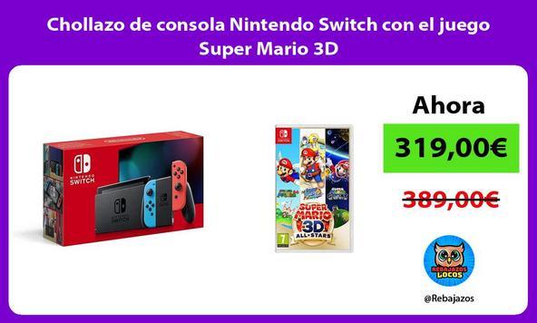 Chollazo de consola Nintendo Switch con el juego Super Mario 3D