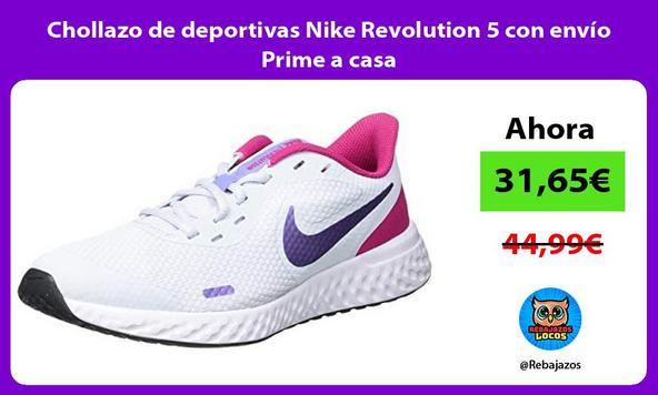 Chollazo de deportivas Nike Revolution 5 con envío Prime a casa