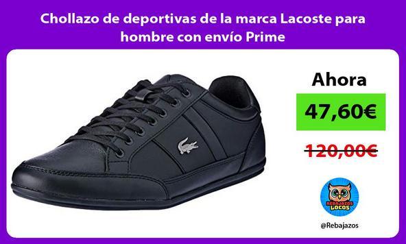 Chollazo de deportivas de la marca Lacoste para hombre con envío Prime