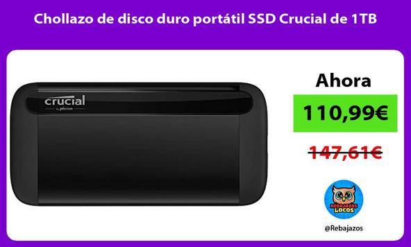 Chollazo de disco duro portátil SSD Crucial de 1TB