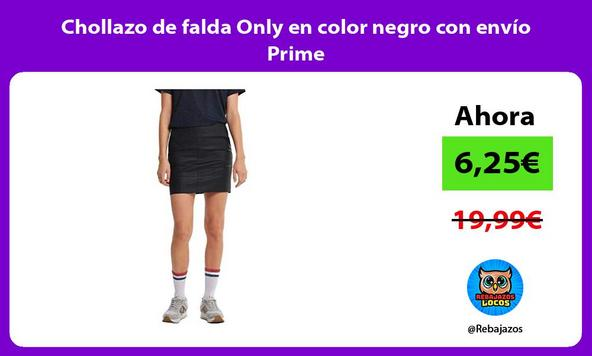 Chollazo de falda Only en color negro con envío Prime