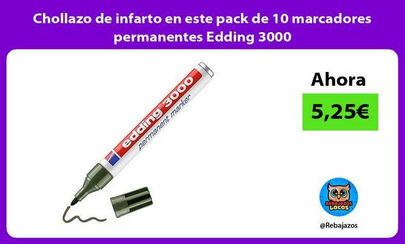 Chollazo de infarto en este pack de 10 marcadores permanentes Edding 3000