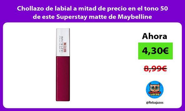 Chollazo de labial a mitad de precio en el tono 50 de este Superstay matte de Maybelline