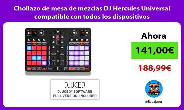 Chollazo de mesa de mezclas DJ Hercules Universal compatible con todos los dispositivos