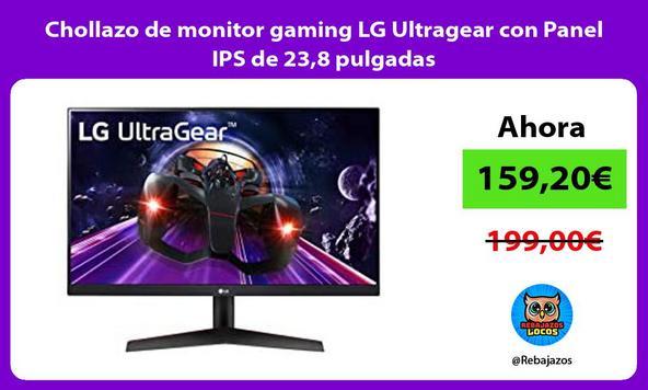 Chollazo de monitor gaming LG Ultragear con Panel IPS de 23,8 pulgadas