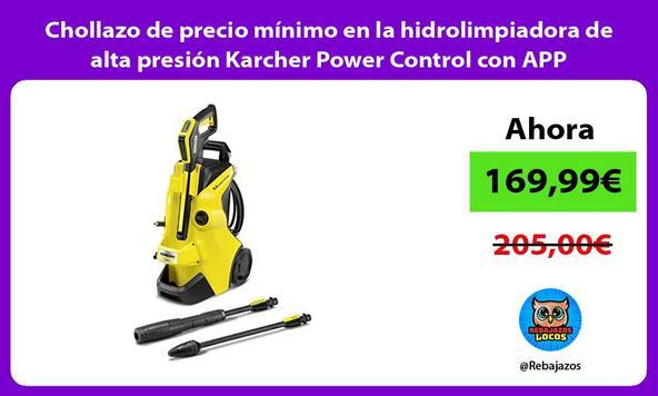 Chollazo de precio mínimo en la hidrolimpiadora de alta presión Karcher Power Control con APP