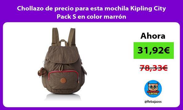 Chollazo de precio para esta mochila Kipling City Pack S en color marrón