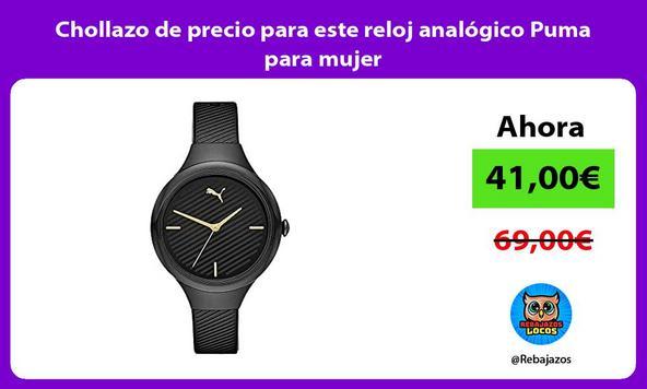Chollazo de precio para este reloj analógico Puma para mujer