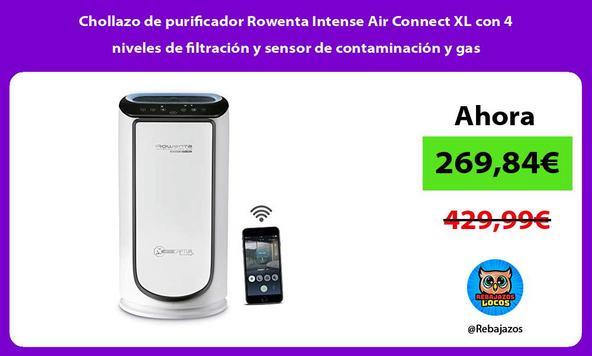 Chollazo de purificador Rowenta Intense Air Connect XL con 4 niveles de filtración y sensor de contaminación y gas