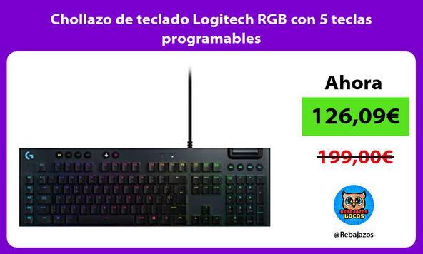 Chollazo de teclado Logitech RGB con 5 teclas programables