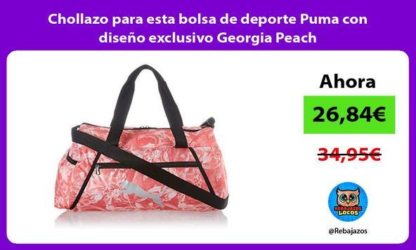 Chollazo para esta bolsa de deporte Puma con diseño exclusivo Georgia Peach