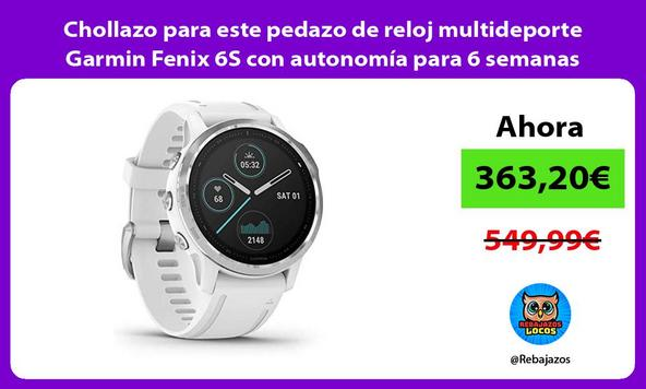 Chollazo para este pedazo de reloj multideporte Garmin Fenix 6S con autonomía para 6 semanas