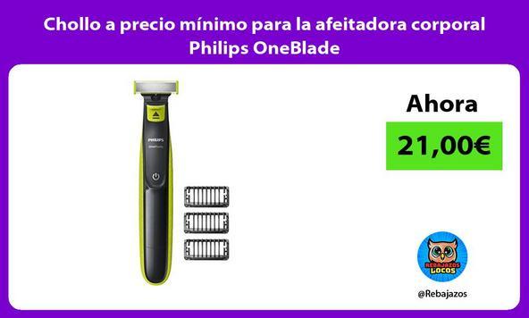 Chollo a precio mínimo para la afeitadora corporal Philips OneBlade