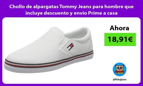 Chollo de alpargatas Tommy Jeans para hombre que incluye descuento y envío Prime a casa