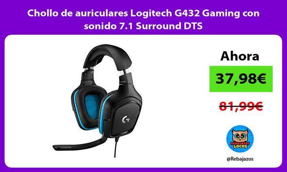 Chollo de auriculares Logitech G432 Gaming con sonido 7.1 Surround DTS