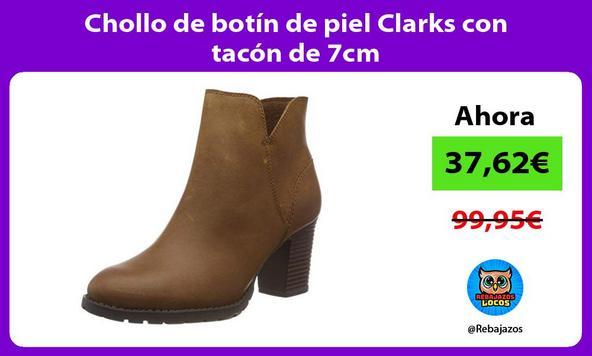 Chollo de botín de piel Clarks con tacón de 7cm