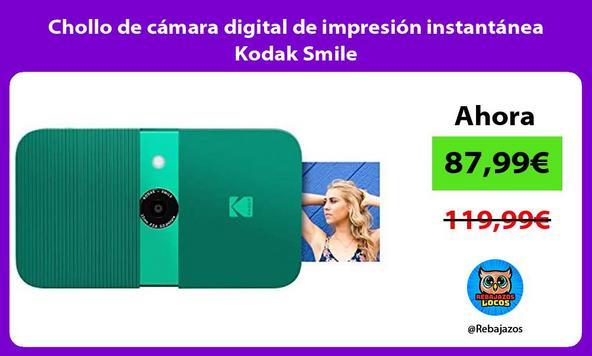 Chollo de cámara digital de impresión instantánea Kodak Smile